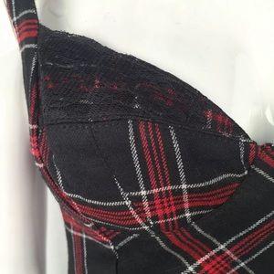 bebe Dresses - Bebe Women's Plaid Wool Lace Bodycon Sheath Dress